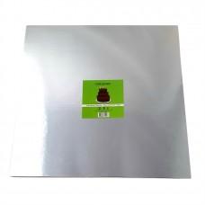 Cake Board Square - Silver 40cm 12mm