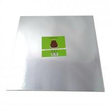 Cake Board Square - Silver 35cm 12mm