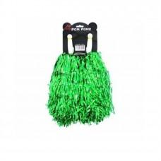 Tinsel Pom Poms Green