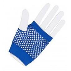 Fishnet Glove short blue