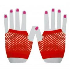 Fishnet Glove short [Colour: red]