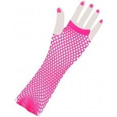 Fishnet Glove long [Colour: pink]