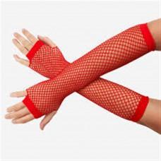 Fishnet Glove long [Colour: red]