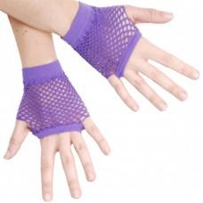 Fishnet Glove short [Colour: purple]