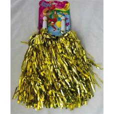 Tinsel Pom Poms Gold