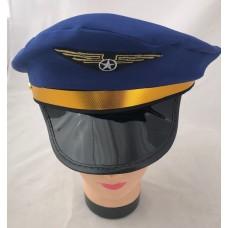 Blue pilot hat