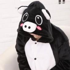 ONESIE Black Pig Adult