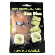 Glow in the dark sex dice Large Pair